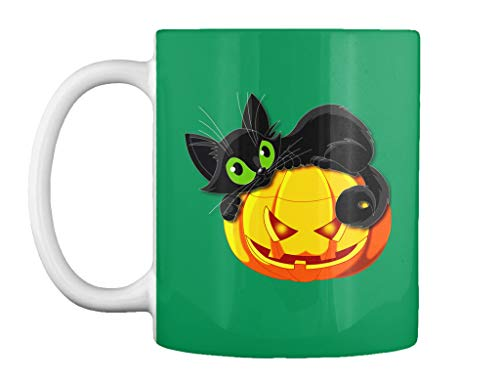 teespring Halloween cat 11oz - Kelly green Mug