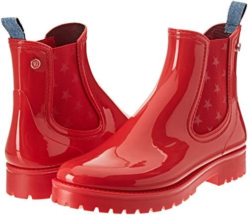 Rosso Rosso Rosso Rosso Stivali Stivali Stivali Trussardi di Jeans R150 Rubber Donna Boot Gomma q0gZ80