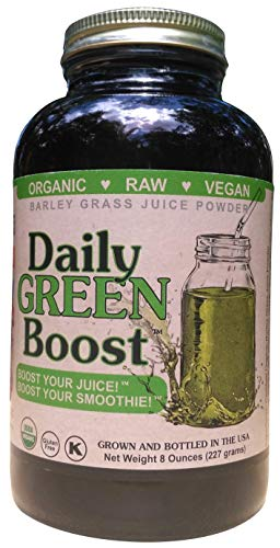 Usa Juice Powder Grass Barley - Daily Green Boost 8oz Organic Raw Vegan GF USA (Style may vary)