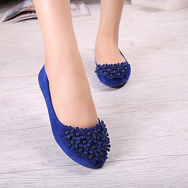 Cómodo amarillo pearlblack soporte zapatos plano de talón fucsia punta redonda Toe mujer azul elegante y cerrado Flats sintética comodidad de Casual rAHSrT