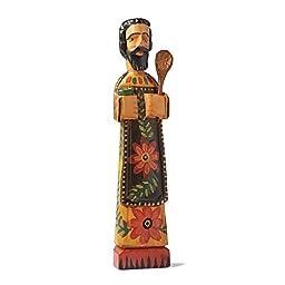 Patron Saint Of Cooks Wooden Sculpture