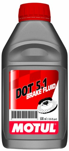 Motul 3364HL-12PK Dot 5.1 100 Percent Synthetic Non-Silicone Base Long Life Brake Fluid - 500 ml, (Case Pack of 12) by Motul