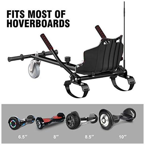 CITYSPORTS Hoverkart pour Hoverboard, Longueur Réglable, Rend Votre Hoverboard Plus en Sécurité, Karting Idéal pour Les Enfants (Camouflage)