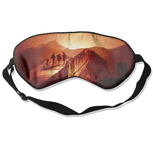 WUGOU Sleep Eye Mask China Great Wall Dusk Lightweight Soft Blindfold Adjustable Head Strap Eyeshade Travel Eyepatch]()