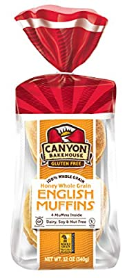 Canyon Bakehouse Shelf Stable Gluten Free English Muffins, 12 oz. (Pack of 3)