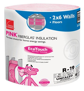Owens Corning Insulation 23 '' W X 39 ' R19 75.07 Sq. Ft. Unfaced