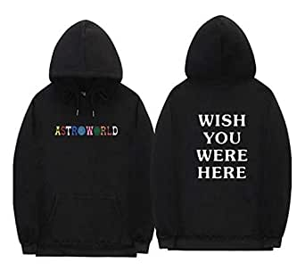 Astroworld WISH YOU WERE HERE Sweatshirt Youth Fleece Hoodie Casual Pullover for unisex