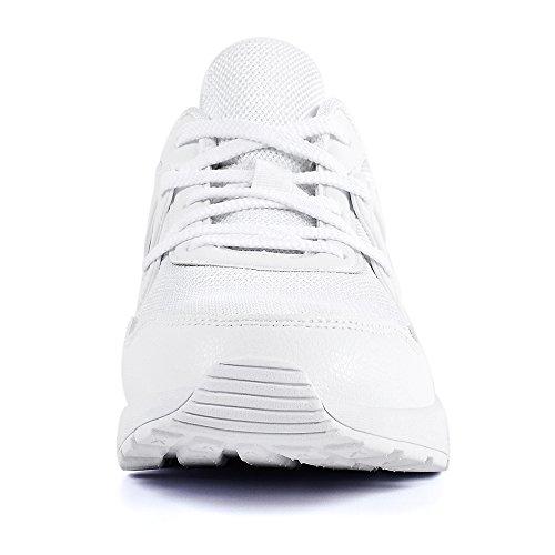 Mxson Herrenmode Turnschuhe Gym Athletic Trainer Atmungsaktives Mesh Sport Laufende Freizeitschuhe Weiß
