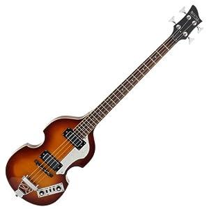 "Rocktile VB-1 ""Sir Paul"" Vintage Beatbass (Violinbass, Bassgitarre, Hollowbody, 2 Humbucker) sunburst"