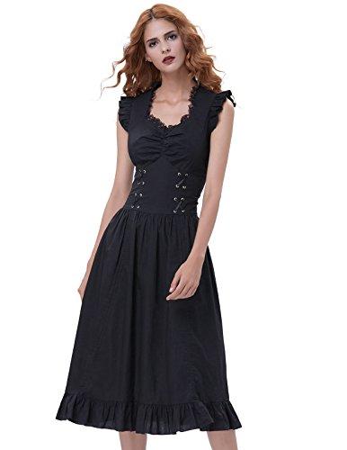 long black goth dress - 6