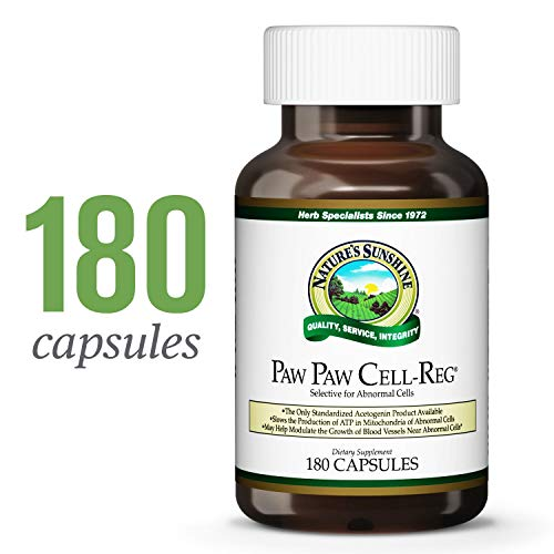 Nature's Sunshine Paw Paw Cell-Reg, 180 Capsules | Contains Over 50 Acetogenins to Modulate ATP Production and Blood Supply