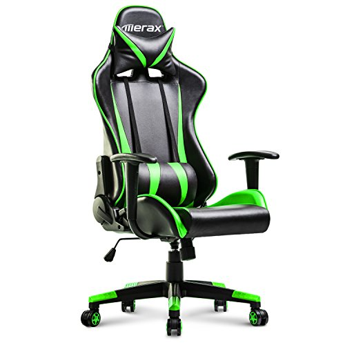 Merax Racing Gaming High-Back Chair Computer Ergonomic Design Computer Chair PU Leather Office Chair (green) by Merax