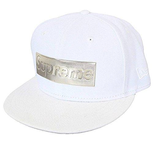 (シュプリーム)SUPREME ×ニューエラ 【16SS】【Metallic Box Logo Cap】× NewEraメタリックボックスロゴベースボールキャップ(7 1/2/ホワイト×シルバー) 中古 B0769HZYNT