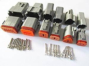 CNKF - Deutsch DT 2P, 3p, 4P, 6P, 8P, 12P Carcasa de conectores de cables elé ctricos de vehí culo, impermeable, conectores hembra y macho kaifa elec