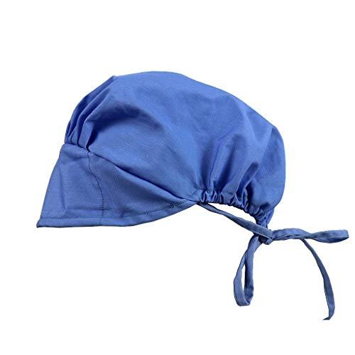 Adjustable Surgical Cap Scrub Cap Sweatband Medical Bouffant Cap Turban Cap Scrub Hat Head Cover for Doctor Nurse Men Women