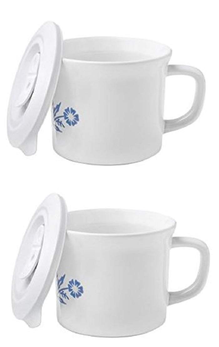 CorningWare Soup Mug with Lid Vented Microwave 20-oz - 2 Pack