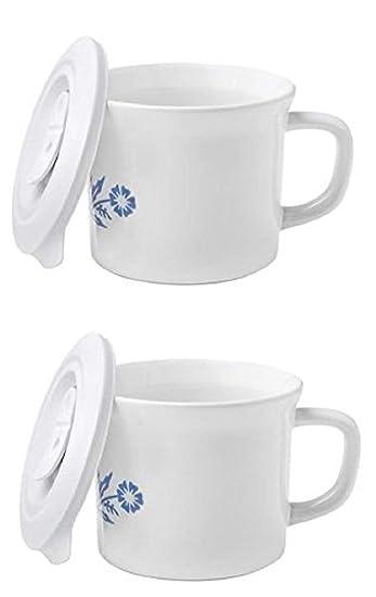 Amazon.com: Taza de sopa de Corningware con tapa con ...