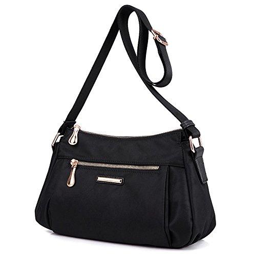 Bolso femenino, paquete de nylon de la manera, paquete de los deportes y del ocio, bolso de la momia de la lona ( Color : Azul ) Negro