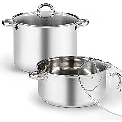 Cook N Home 02527 Stockpot with Lid, 16 quart, Stainless Steel, Large, Silver from Cook N Home
