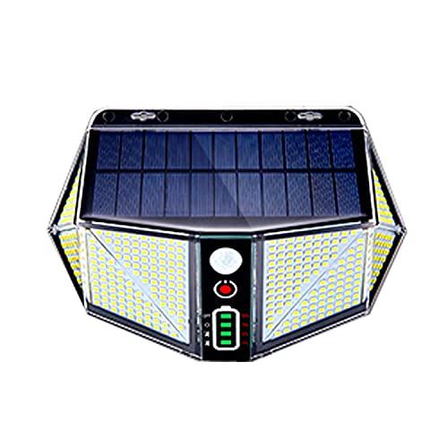 1PCS Lampe Spot Solaire Extérieur 410 LED 290° 2500 Lumens Eclairage de Sécurité Lampe Mural pour Jardin sans Fil Mouvement Etanche en PVC PC
