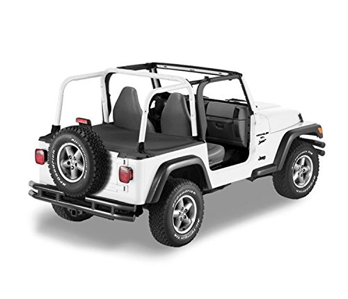 Bestop 90024-35 Black Diamond Duster Deck Cover for 2004-2006 Wrangler Unlimited with Factory Hardtop Removed ()