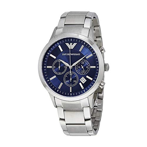 Emporio Armani Men's AR2448 Dress Stainless/Blue Dial Watch from Emporio Armani