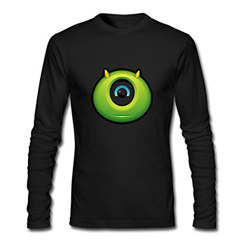 Hot October Men's Halloween clipart eyeball T-Shirts Black XX-Large -