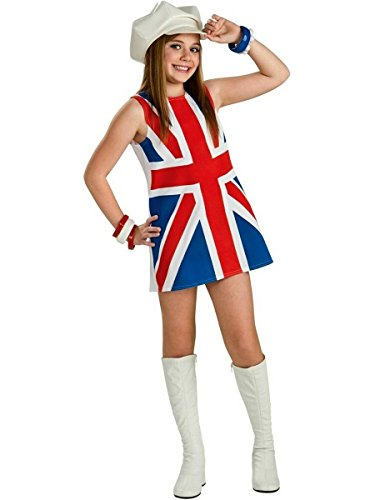Rubie's Costume Co Girls British Invasion Costume Red/Blue M for $<!--$13.66-->
