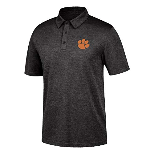 Top of the World NCAA Men's Clemson Tigers Dark Heather Carbon Polo Black Heather Medium