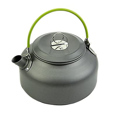 Wrisky 0.8L Portable Ultra-light Teapot Anodised Aluminum Hiking Picnic Camping Survival Coffee Water Teapot Kettle Pot for Backpacking Travel Trip Outdoor Cooking