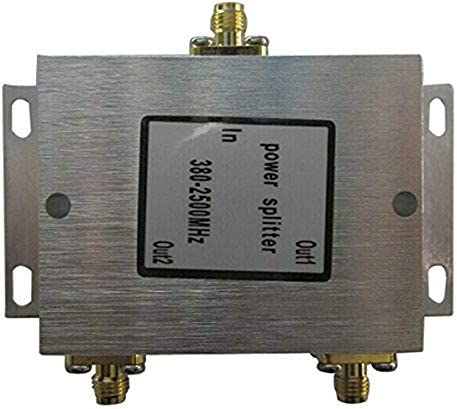 Gimax mobile phone booster splitter signal booster 2 way SMA Splitter 8002500MHz 2 port SMA Power Splitter SMA Female Power Divider