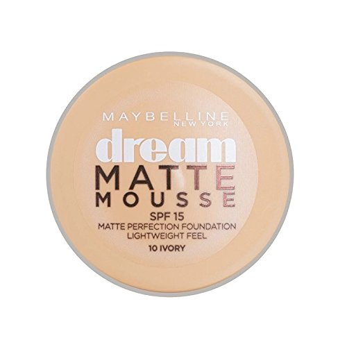 Maybelline Dream Matte Mousse Foundation 10 Ivory 10ml (Pack of 6) - メイベリン夢マットムース土台10アイボリー10ミリリットル x6 [並行輸入品] B0713SNNTR