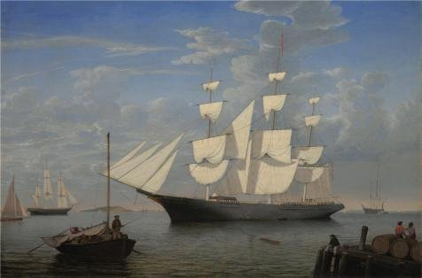 The Perfect Effect Canvas Of Oil Painting 'Fitz Henry Lane,Starlight In Harbor,about 1855' ,size: 12x18 Inch / 30x46 Cm ,this Vivid Art Decorative Prints On Canvas Is Fit For Laundry - Starlight Candlestick