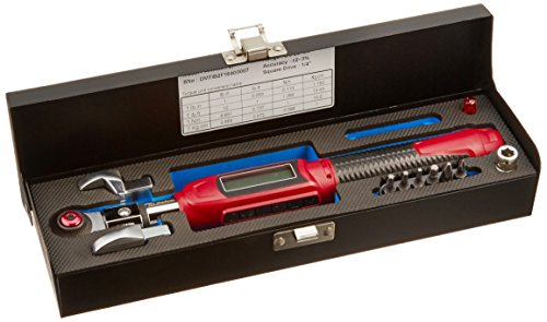 "ACDelco Tools 1/4"" (Inch) Ultra-Compact INTERCHANGEABLE Digital Torque Wrench, Measures 1.845-22.12 ft-lbs. Range of Torque, 10-1/16"" Length, LCD Display, Audible Notification Buzzer, LED Light ()"