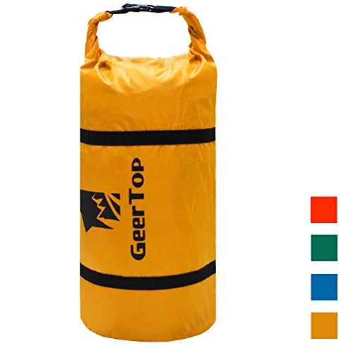 堤防輝く助けてGEERTOP 防水 調整可能 テントコンプレッションバッグ 圧縮バッグ 軽量 ダッフルバッグ キャンピング アウトドア スポーツ用