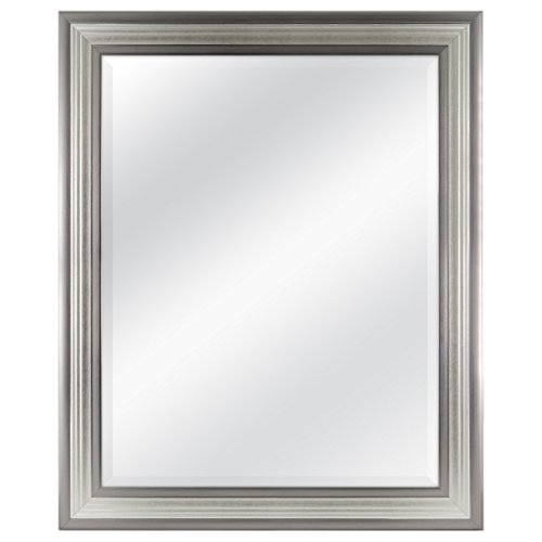 MCS 22x28 Inch Ridged Mirror, 27x33 Inch Overall Size, Silver -