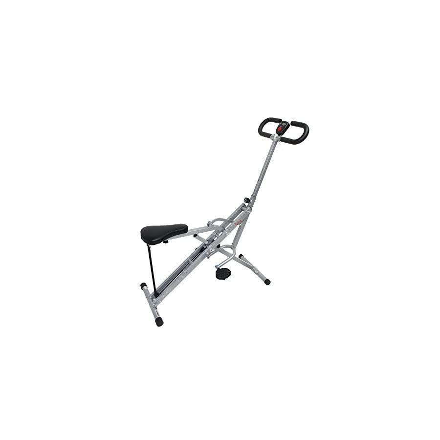 Sunny Health & Fitness Squat Assist Row N Ride Trainer for Squat Exercise and Glutes Workout
