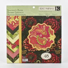 K&Company 30-302662 Specialty 12-Inch x 12-Inch Paper - 48-Sheets Simply - K & Paper Company Inch 12