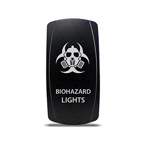 Ch4x4 Rocker Switch Biohazard Lights Symbol   Amber Led