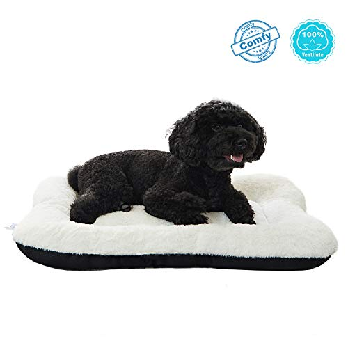 (ANWA Dog Bed Puppy Bed Small Pet Bed Crate Bed Soft and Durable for Small Dog)