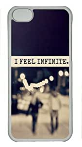 LJF phone case I Feel Infinite iphone 4/4s Hard Shell with Transparent Edges Cover Case by Lilyshouse