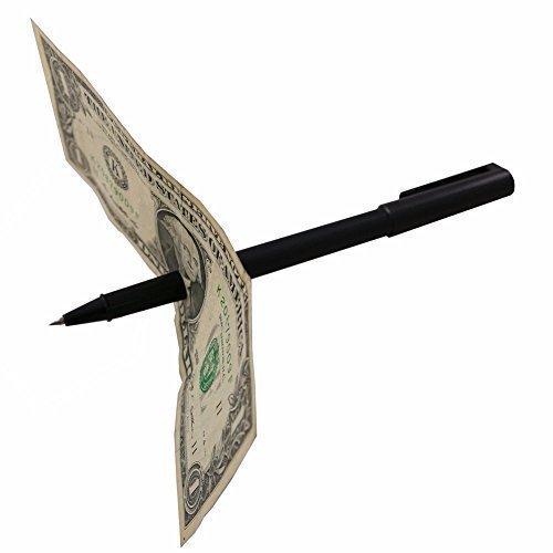 Magic Pen Thru Dollar Bill Trick: Magic Money Quarter Coin Tricks Illusions Set & Kits: Kids Beginners Shows 2015, 8 +, Boys & Girls Illusion Magic Trick