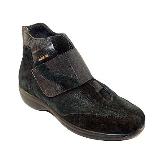 daim Chaussure H noir NOIR élégant 9105 cuir confortable Noir Hergos et et wt10q7
