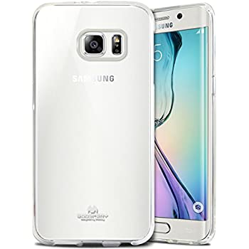 best service 0eb1d fde44 Galaxy S6 Edge Case, [Thin Slim] GOOSPERY [Flexible] Clear Jelly Rubber TPU  Case [Lightweight] Bumper Cover [Impact Resistant] for Samsung Galaxy S6 ...