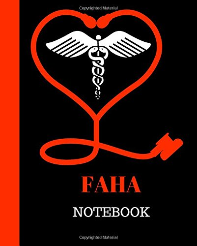 FAHA Notebook  Fellow American Heart Association Notebook Gift   120 Pages Ruled With Personalized Cover