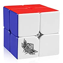 D-FantiX Cyclone Boys 2x2 Speed Cube Stickerless Magic Cube 2x2x2 Puzzle Toys Colorful