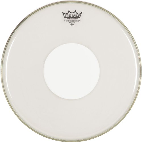 Remo CS031200 Clear Controlled Sound Drum Head, 12-Inch, White Dot on Top
