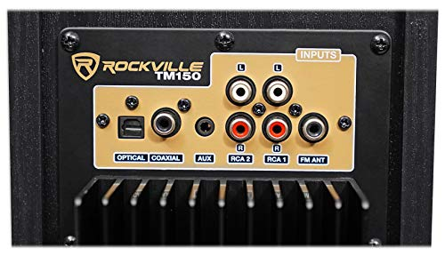 Rockville TM150B Black Home Theater System Tower Speakers 10'' Sub/Blueooth/USB by Rockville (Image #6)