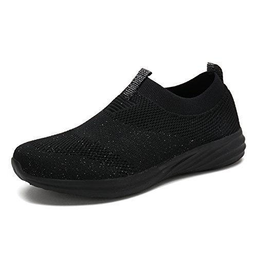 DREAM PAIRS Women's C0195 All Black Fashion Running Shoes Sneakers Size 11 M US