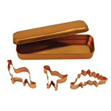 Fox Run Brands 21003 Copper Dinosaur Cookie Cutter Set